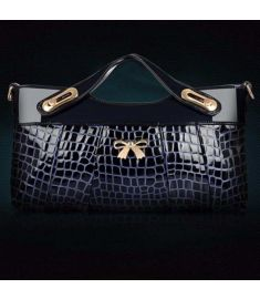 Stylish embossed grain clutch bag for women