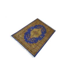 Persian Hand Knotted Silk Wool Rug  49 x 71 inches