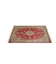 Persian Hand Knotted Silk Wool Rug 36 x 62 inches