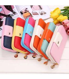 Girls Bird Design Mobile Bag Card Holder Clutch Long Purse Wallet