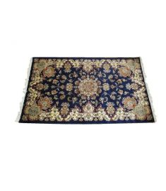 Persian Kerman Hand Knotted Silk Wool Rug 37 x 61 inches