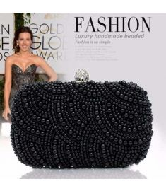 Women Pearl Beaded Bridal Clutch