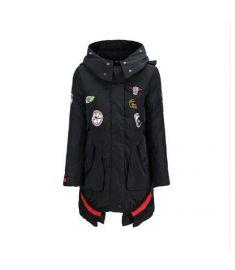 Winter Hooded Down Jacket Women Trendy Zipper Girls Streetwear Warm Casual