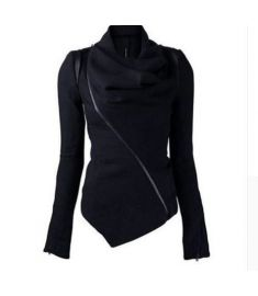Women Jacket Coat black Basic Overcoat Winter Autumn Goth Thick Outwear pullover hoodies