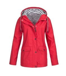Casual Autumn Winter Hiking Jackets Women Ladies Rain Jacker Outdoor Rain Coat Zipper