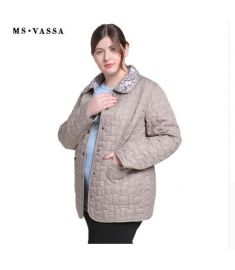 Women jacket Double-sided w ladies casual jacket with flock turn-down collar