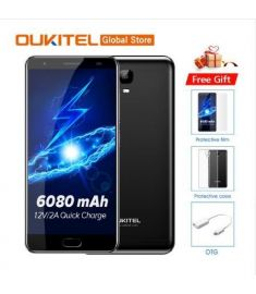 "Original Oukitel K6000 Plus 4G LTE Mobile Phone MTK6750T Octa Core 5.5""FHD 1920x1080 4GB RAM 64GB ROM 16MP Fingerprint"