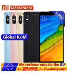 "Original Xiaomi Redmi Note 5 4GB RAM 64GB ROM Snapdragon S636 Octa Core Mobile Phone MIUI9 5.99"" 2160*1080 4000mAh"