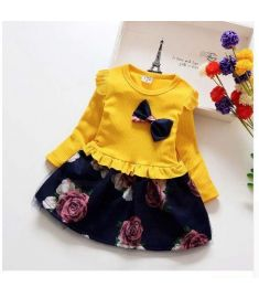 BibiCola spring Party Dresses Kids Floral Clothes