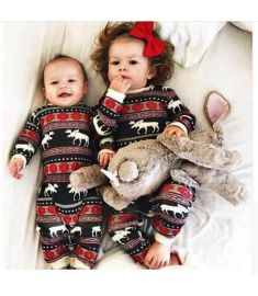 Christmas Pajamas Dress For Baby Kids Boy Vestidos Toddler Baby Boy Christmas Long Sleeve