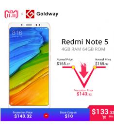 "Original Xiaomi Redmi Note 5 4GB RAM 64GB ROM Snapdragon 636 Octa Core 5.99"""