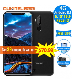 "Oukitel C12 Pro 4G 6.18"" 19:9 Android 8.1 Face ID 2GB RAM 16GB ROM 3300mAh Mobile Phone"