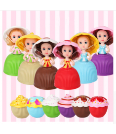 Mini Cartoon Reborn Dolls for Girls Children Cute Cake Doll Lovely Surprise Cupcake Princess Dolls