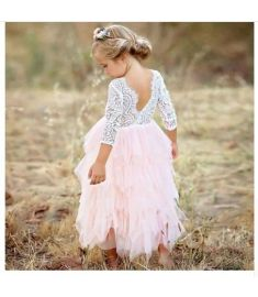 Vestidos Girls Summer Dress Brand Backless Teenage Party Unicorn Princess Dress