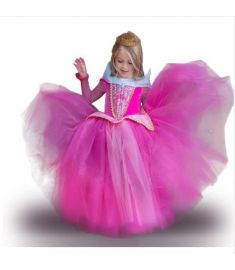 New Summer Christmas cosply Baby Girls Dress Party Dress Kids Princess Dresses