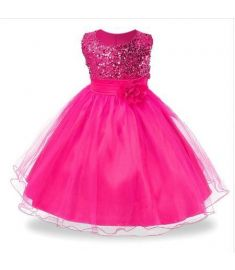 3-14yrs Hot Selling Baby Girls Flower sequins Dress High quality Party Princess Dress