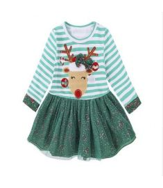 Kids Tales Girls Fashion Christmas Dress Baby Girls Clothes Kids Dresses