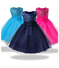 1-14 yrs teenagers Girls Dress Wedding Party Princess Christmas Dresses