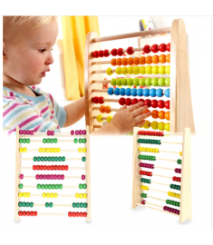 Multicolor Beads Design Educational Wooden Abacus Toy Children Counting Number