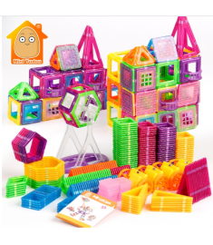Mini Magnetic Designer Construction Set Model & Building Plastic Magnetic Blocks
