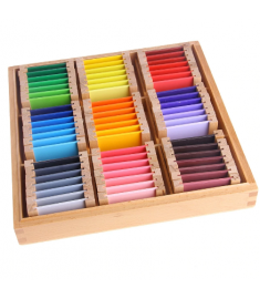 Montessori Sensorial Material Learning Color Tablet Box 1/2/3 Wood Preschool Training Kids