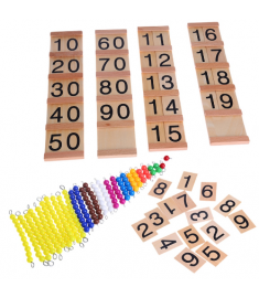 Montessori Kids Toy Baby decimal base Bank Game Set Maths Training for Early Learning