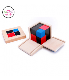 Wooden binomial cube montessori Math Toys For Children Educational Preschool