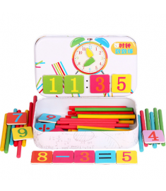 Wooden Math Number Stick Magnetic Mathematics Puzzle