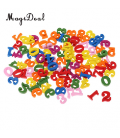 MagiDeal Colorful 100 Pieces Wooden Numbers for Children Kids Math Learning Educational Toys