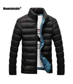 Winter Jacket Men 2018 Fashion Stand Collar Male Parka Jacket Mens Solid Thick Jackets
