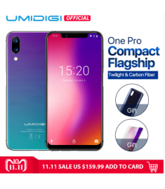 """UMIDIGI One Pro Global Band 5.9"""" Android 8.1 mobile phone wireless charge 4GB 64GB P23 Octa Core"""