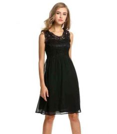 Zeagoo Women Slim Lace Chiffon Cocktail Party Dress
