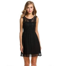 Zeagoo Women's Sheer Lace Cocktail Evening Party Dress