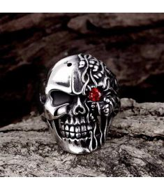 Unique Star Celebrity Men Styles Skull Ring