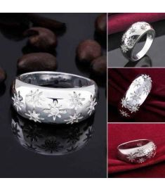 Silver Plated New Design Finger Ring For Lady 2