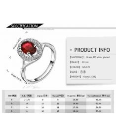 Silver Plated New Design Finger Ring For Lady 3