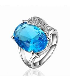 Unique Design Bulk Stock Big Sapphire Single Stone Ring