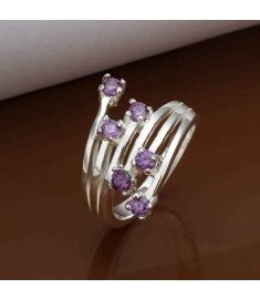 Silver Plated New Design Finger Ring For Lady 6
