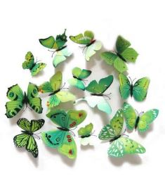 3D Wall Stickers Magnet Butterflies 12 Pices