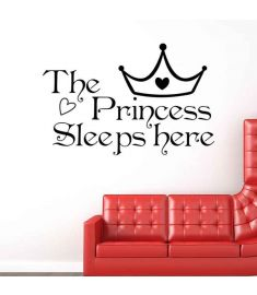 The Princess Sleeps Here Vinyl Wall Stickers Decals Art Wallpapers