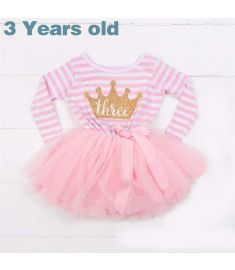 2017 Winter Baby Girls 1st Birthday Dress Children Clothing Girls Infant Princess Tutu Dress For Girl Clothes Size 1 2 3 Years