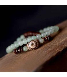925 Silver beads bracelet,handmade Dayi Beads ethnic bracelet,Chinese wind jewelry vintage necklace ,new Aventurine bracelet