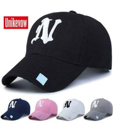1Piece Baseball Cap Men Outdoor Sports Golf leisure hats N letter embroidery sport cap for men and women