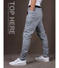 Men Casual Pants Big Pocket Army Trousers Hip Hop Harem Mens Joggers