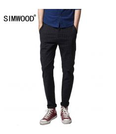 Spring Fashion Plaid Pants For Men Outdoors Long Trousers
