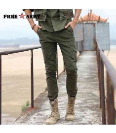 Autumn Trousers for Men Slim Winter Military Pants