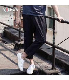 VIISHOW Mens Pants Casual Fashion Trousers Leisure Striped Pants