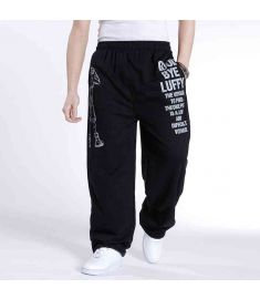 Spring and autumn men's plus size clothing pants loose pants