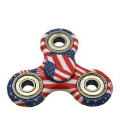 American Flag Fidget Toy ABS Plastic EDC Hand Spinner For Autism and ADHD Stress Relief Toys New Finger Spinner