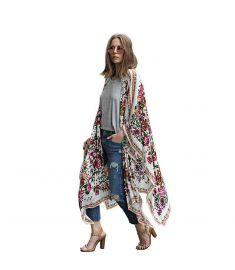 Summer Style Women Long Chiffon Kimono Cardigan Blusa Feminina